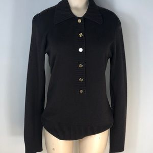 Tory Burch brown cashmere sweater M